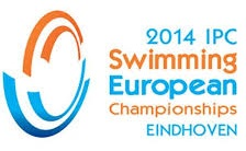 Logo der EM in Eindhoven 2014 in blau und orange